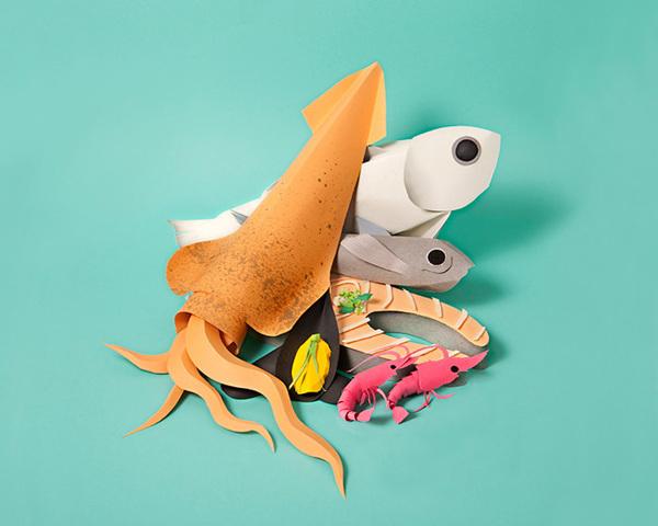 Papercraft groceries by Maria Laura Benavente Sovieri