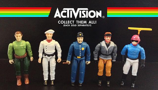 Custom Atari-Era Activision Figures