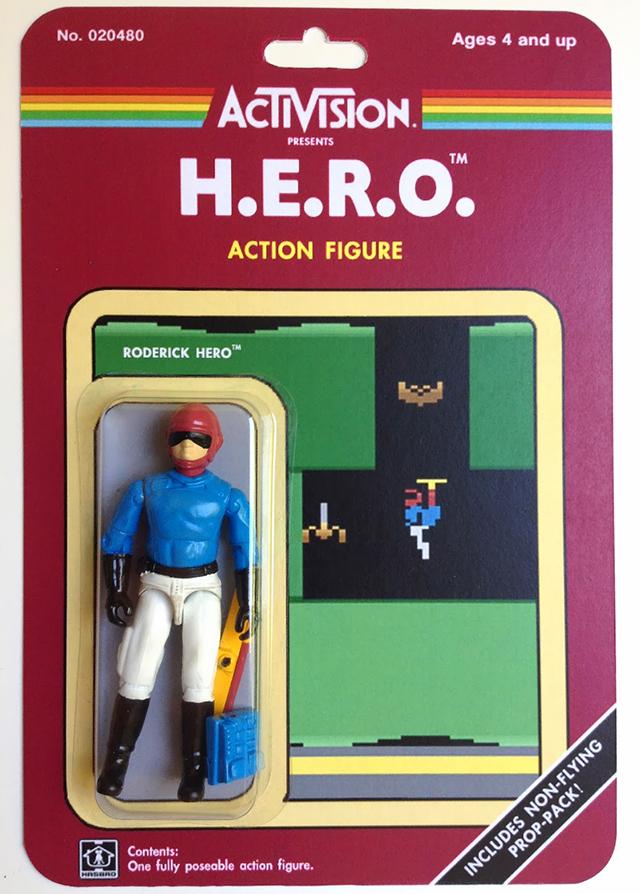 Custom Atari-Era Activision Figures - H.E.R.O.