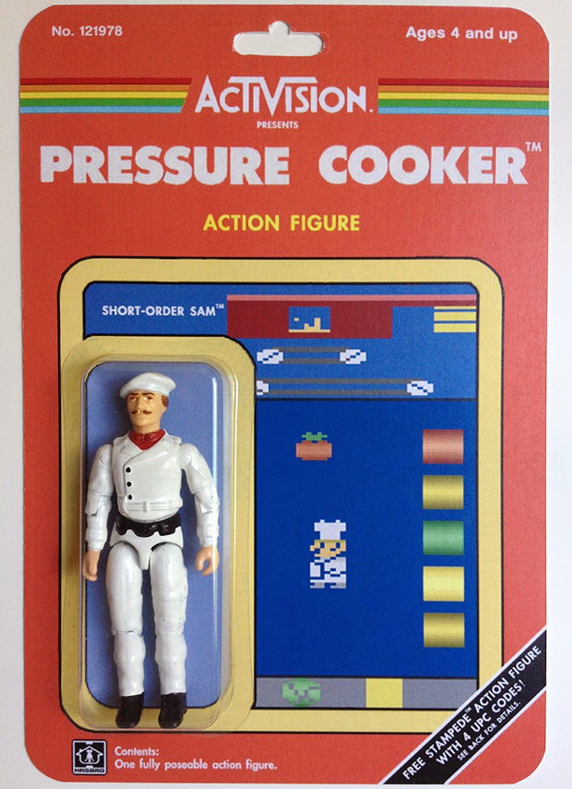 Custom Atari-Era Activision Figures - Pressure Cooker