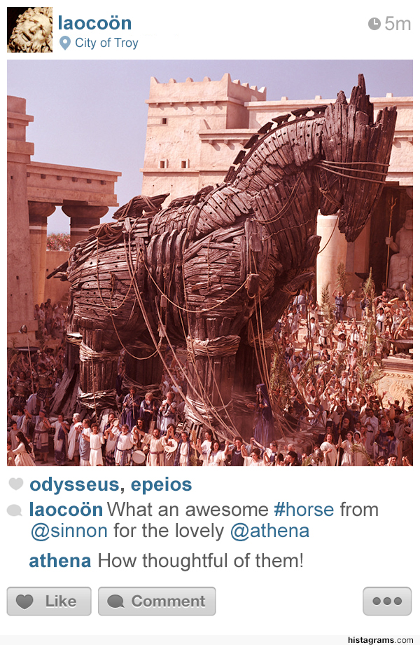 Histagrams, Major Historical Events Depicted as Instagram Posts