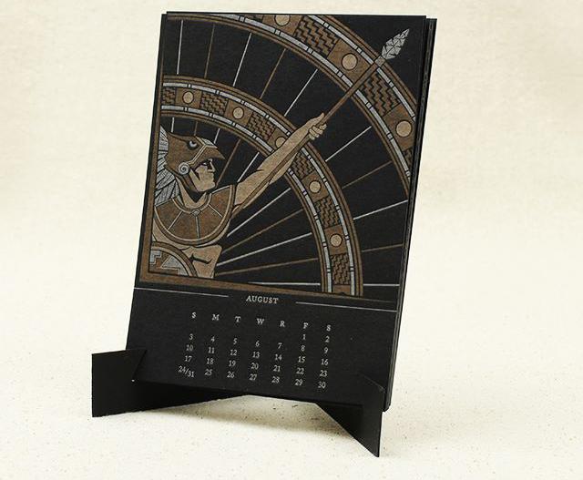 12 Musketeers 2014 Letterpress Calendar