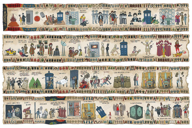 The Entire History of 'Doctor Who' Illustrated as a Tapestry