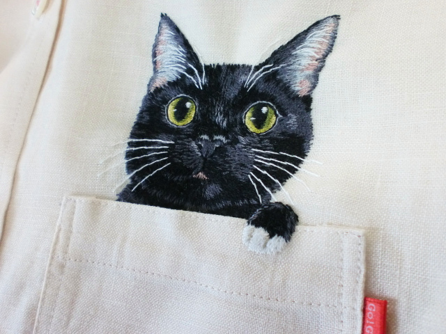Embroidered Internet Cats