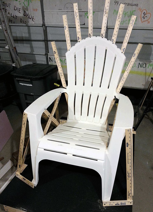 How to build a replica of the iron throne from game of for Throne chair plans