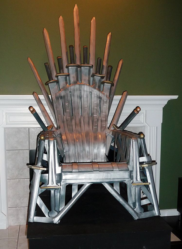 Homemade Replica of the Iron Throne