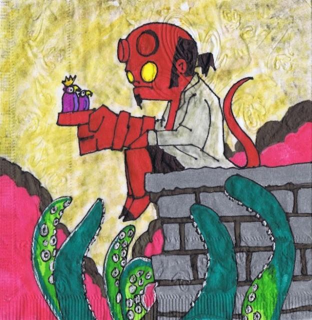 Hellboy Napkin