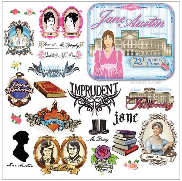 Jane Austen Temp Tats 2