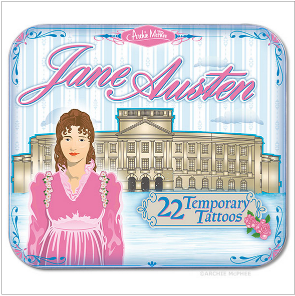 Jane Austen Temp Tats