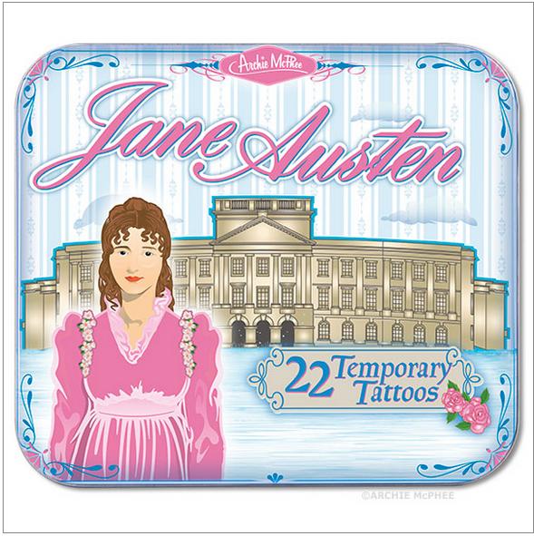 Jane Austen Temporary Tattoos by Archie McPhee