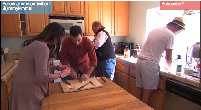 Jimmy Kimmel and Chef Mario Batali Take to the Streets to Cook A Meal With Random Strangers