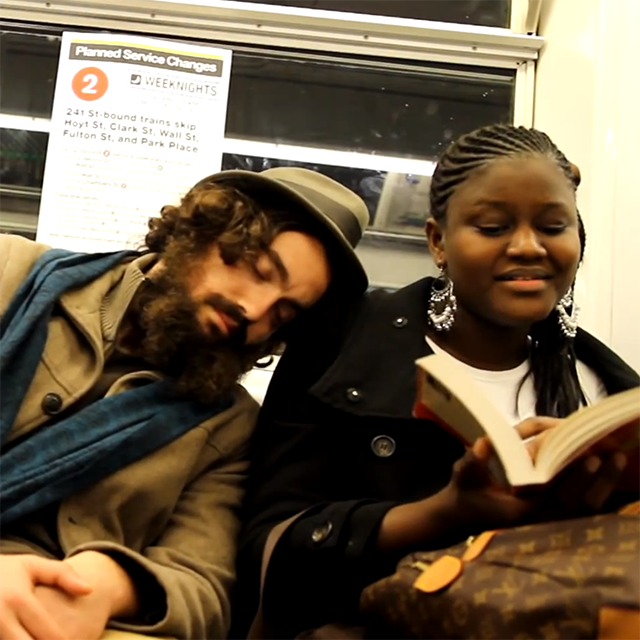 Kind Subway Passengers Allow a Stranger to Sleep on Their Shoulders in New York City