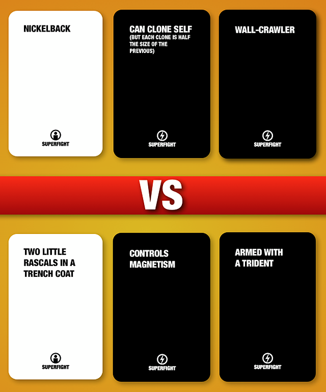 Superfight, A Party Card Game That Pits Characters Against One Another in Random Fights