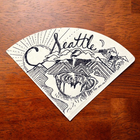 Coffee filter doodles by Ben blake