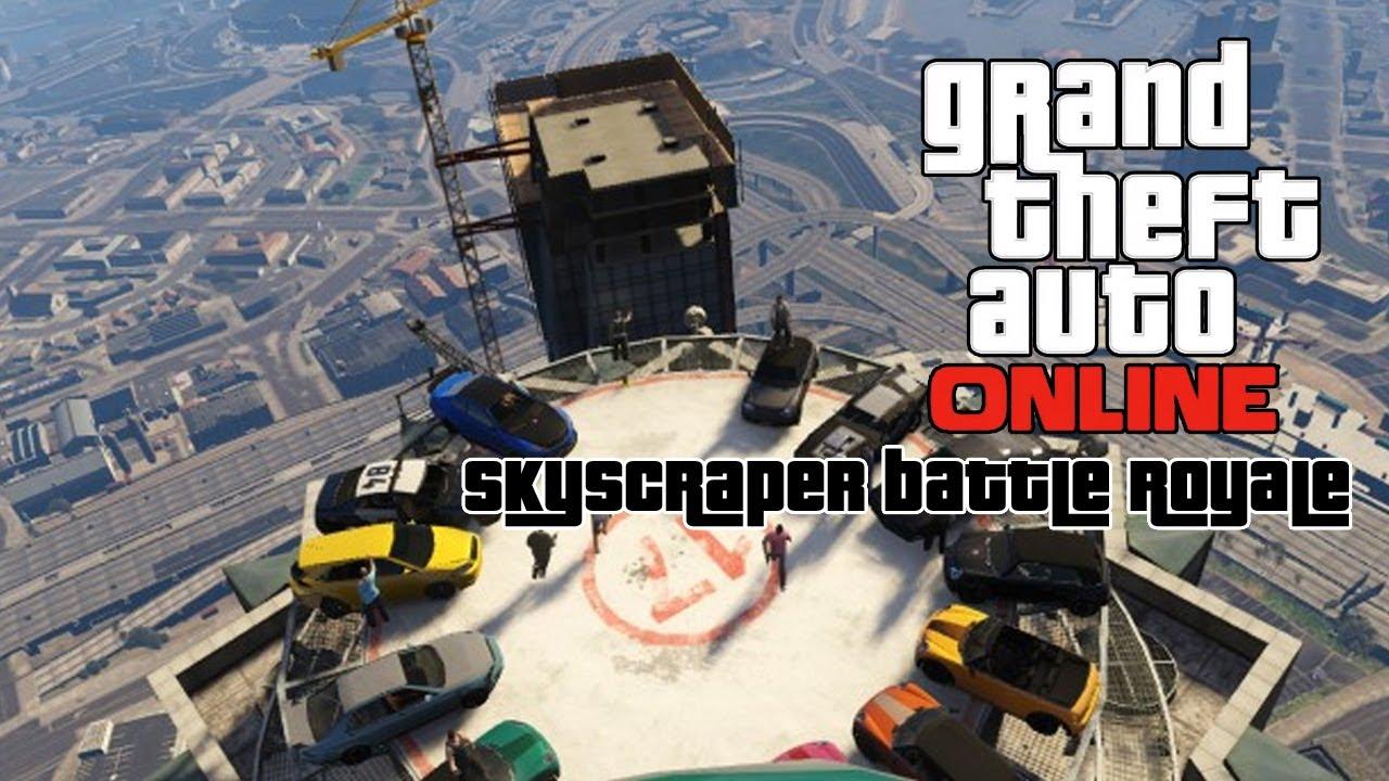 Chaotic 13-Car Demolition Derby Atop a Skyscraper in 'Grand Theft Auto V'