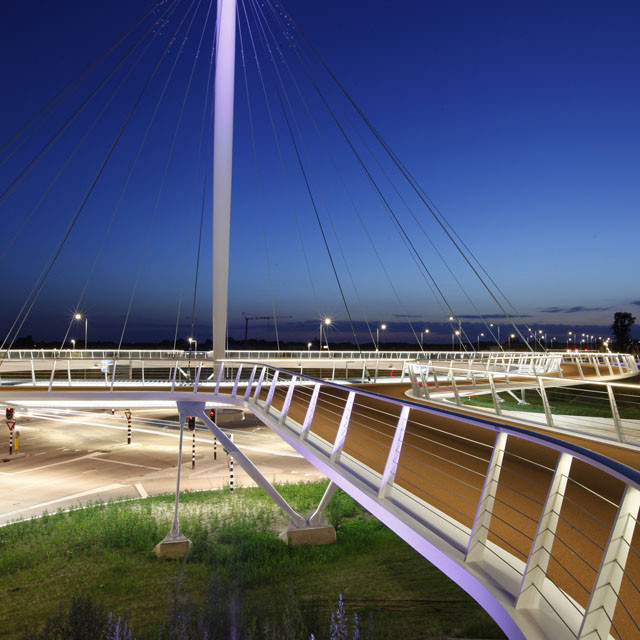 Hovenring circular bike bridge