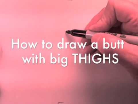 How to Draw a Butt With Just Five Lines