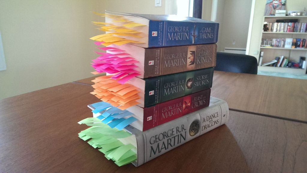 Every Death in George R.R. Martin's 'A Song of Ice and Fire' Series Visualized with Colorful Bookmarks