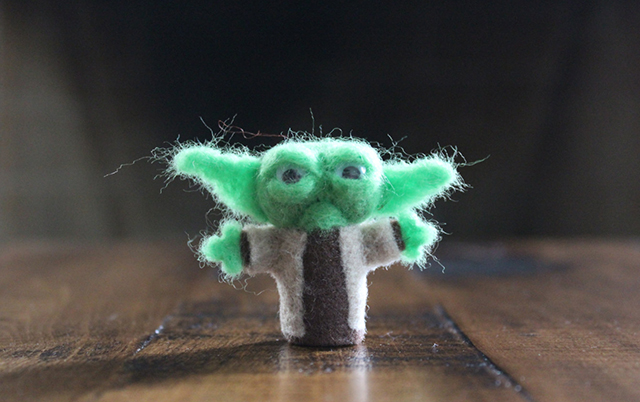 Felted Mini Star Wars Yoda