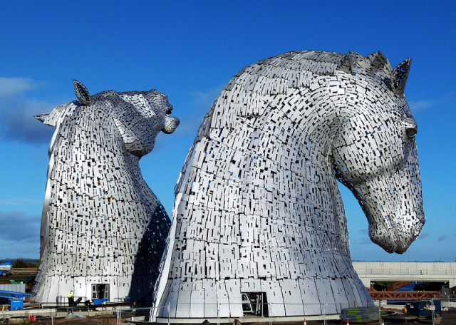 The Kelpies giant horse sculptures