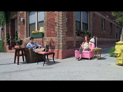 Man Rides a Chair Down the Sidewalk in Stop Motion Sprint Commercial by PES