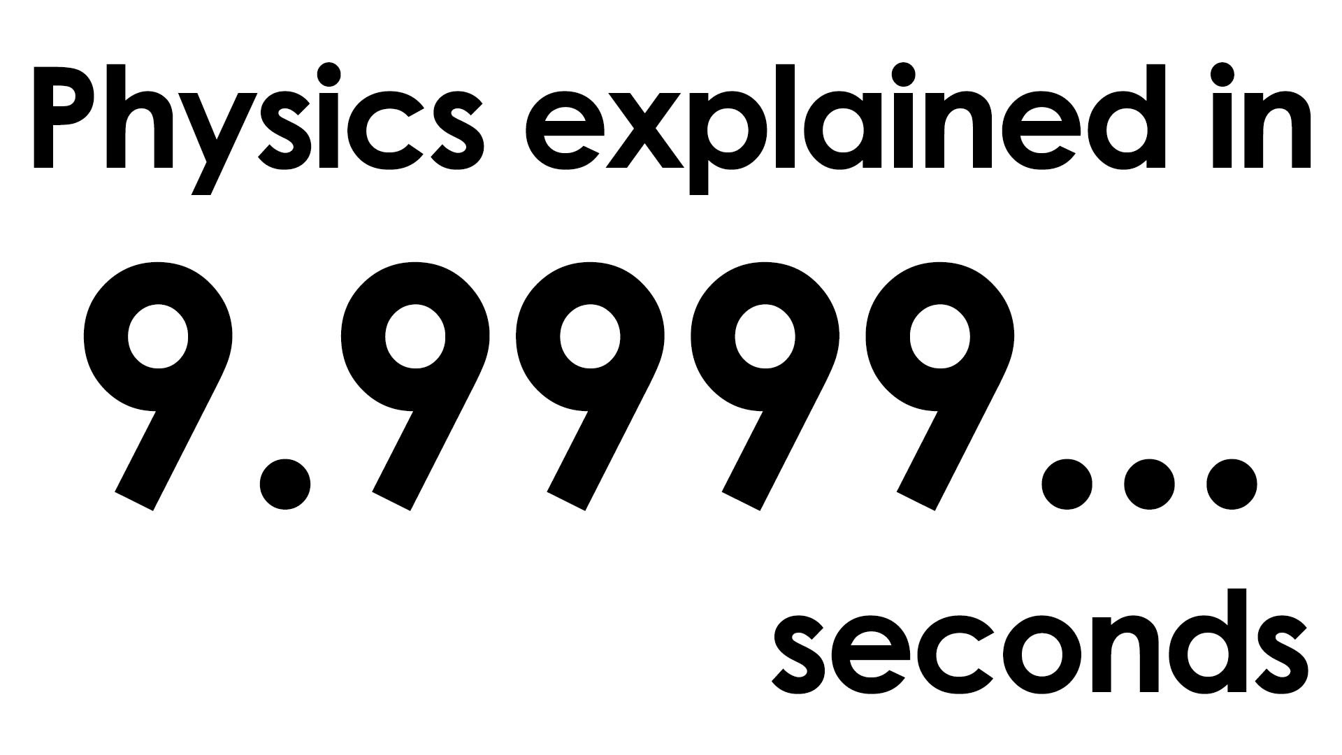 MinutePhysics Explains Physics in Daily Ten-Second Videos For a Month