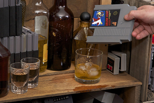 Nintendo Whiskey Flasks
