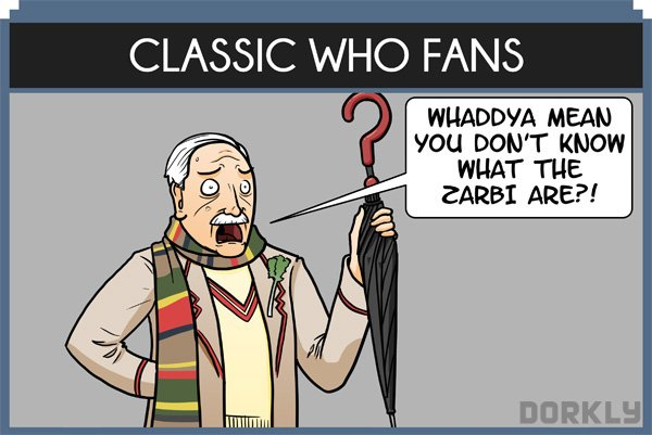 Types of 'Doctor Who' Fans