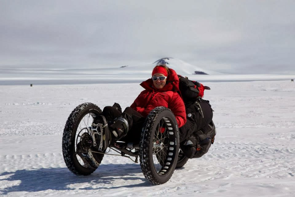 British Woman is First Person to Cycle to the South Pole