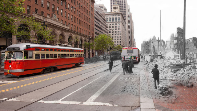 Fade to 1906 - Ferry Building