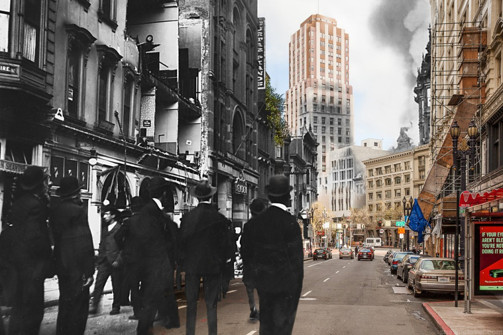 Fade to 1906,  An Upcoming Book Featuring Merged Then and Now Photos of the 1906 San Francisco Earthquake