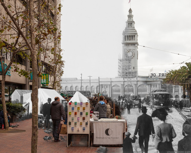 1906:Now  Ferry Building San Francisco