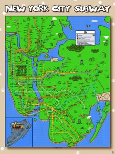 Super Mario World NYC Subway Map