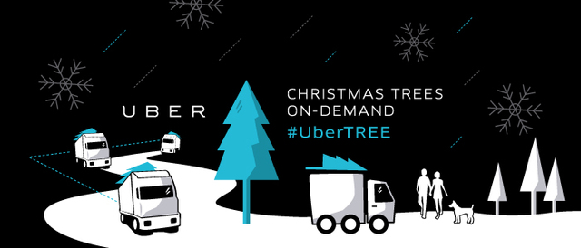 Uber Christmas Tree Delivery