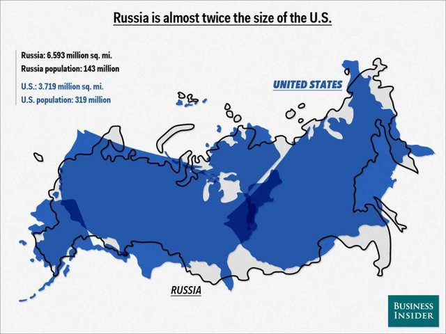 Map Overlays Show How Big Countries Are Compared to One Another