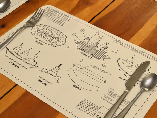 Engineering Blueprint Placemats