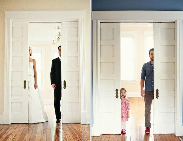 Wedding Photos Recreated With Daughter