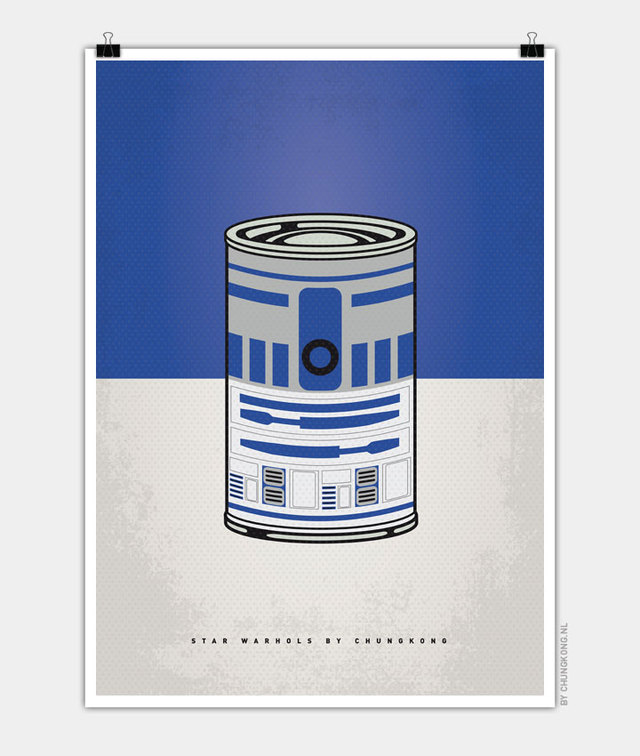 star warhols 39 star wars 39 characters illustrated as warhol soup cans. Black Bedroom Furniture Sets. Home Design Ideas