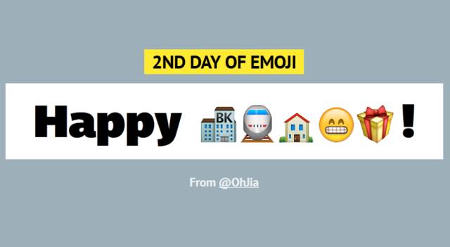 12 Days of Emoji