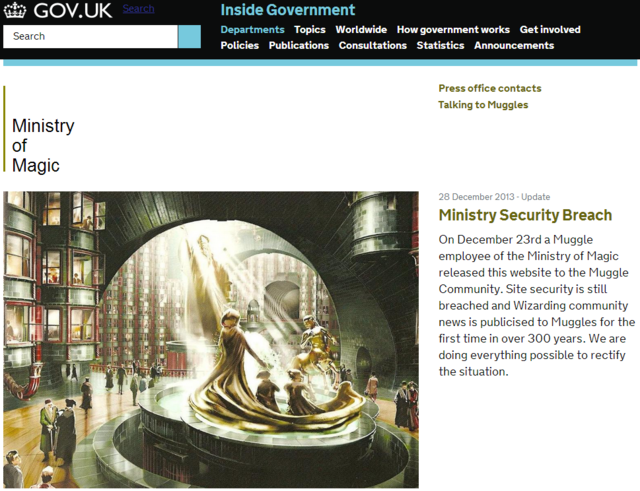 Ministry of Magic Website