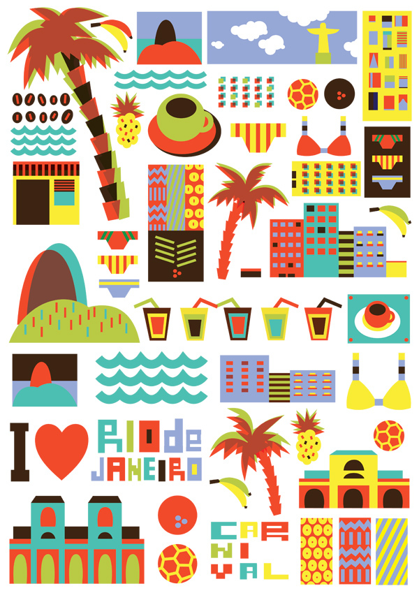 I Love the World Travel Posters