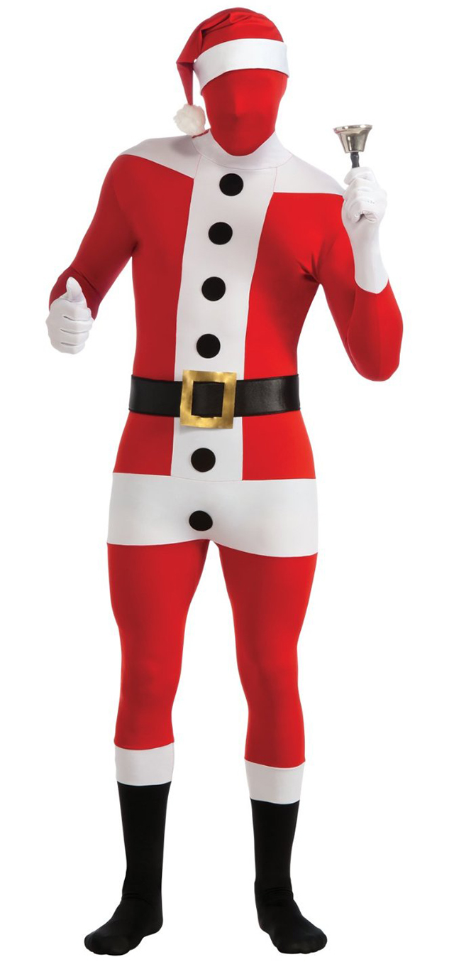 Skin-Tight Santa Claus Full Body Spandex Suit