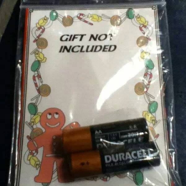 Secret Santa Recipient Gets a 'Gift Not Included' for ...
