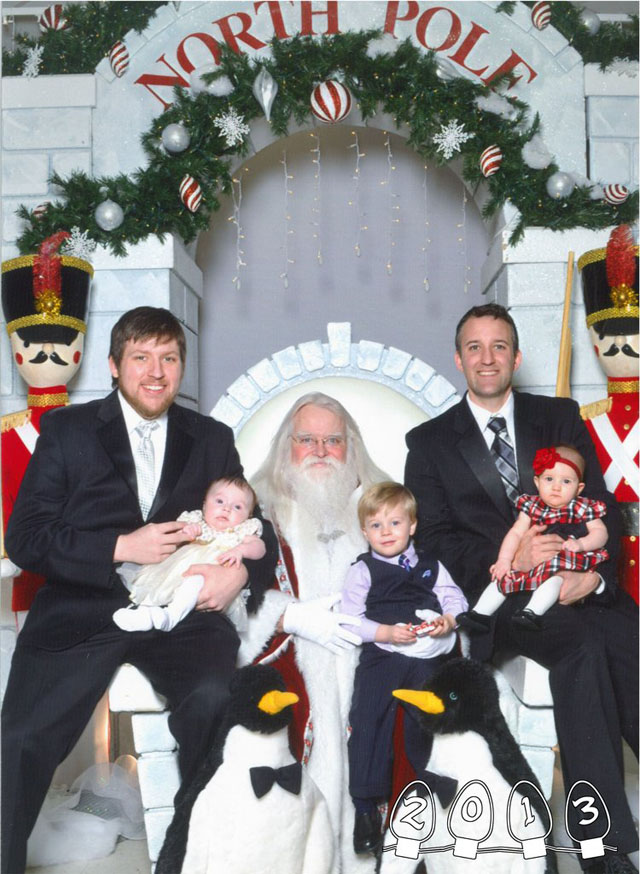 Brothers Pose With Santa for 3 Decades