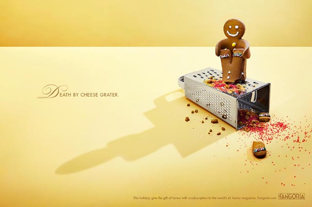 Death By Cheese Grater - Holiday Horror