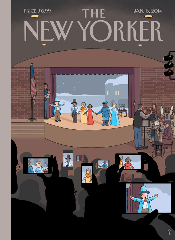 All Together Now New Yorker Cover by Chris Ware