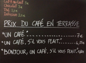 Discount For Being Polite at Le Petite Syrah