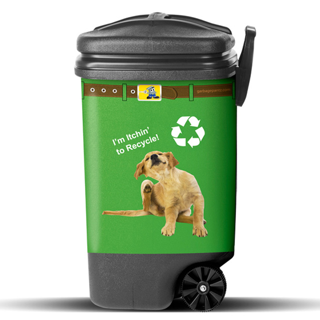 Recycle Puppy Garbage Pantz