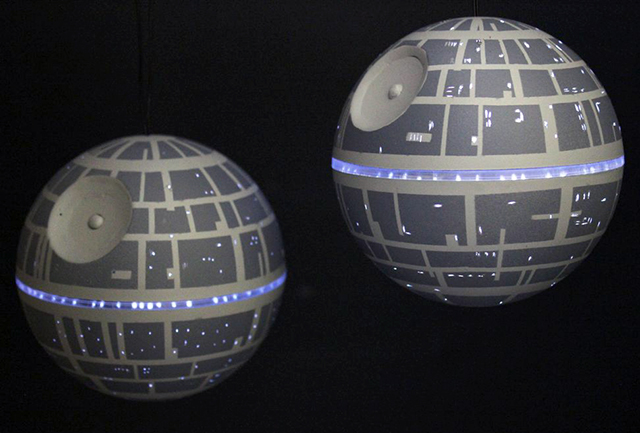 How to Make LED Death Star Ornaments That Light Up
