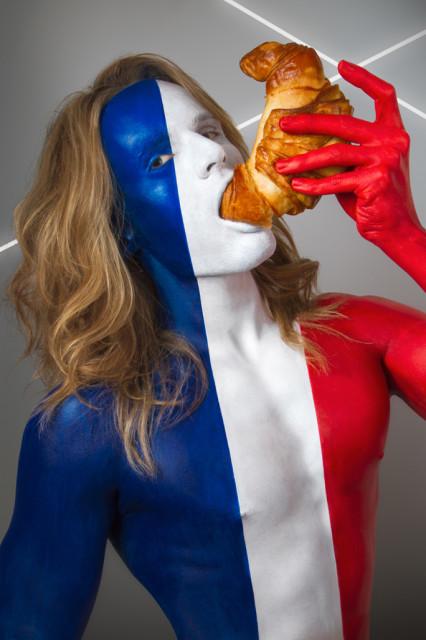 France Flag - Croissant